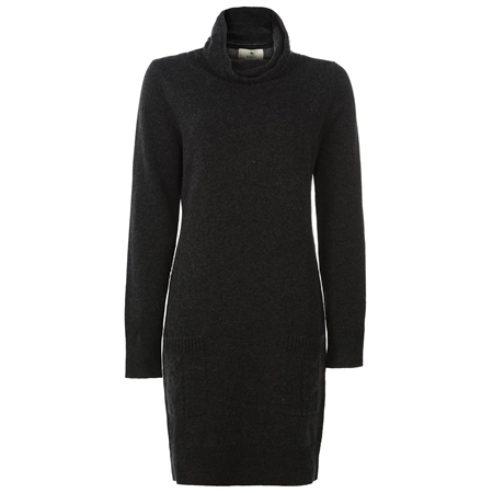 Charcoal Wool & Cashmere Jumper Dress  - Click to view a larger image