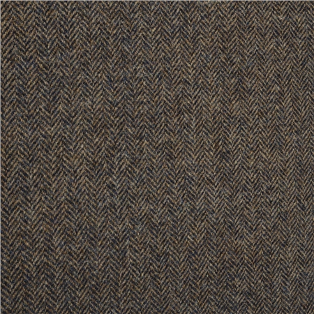 Brown & Camel Herringbone Donegal Tweed  - Click to view a larger image