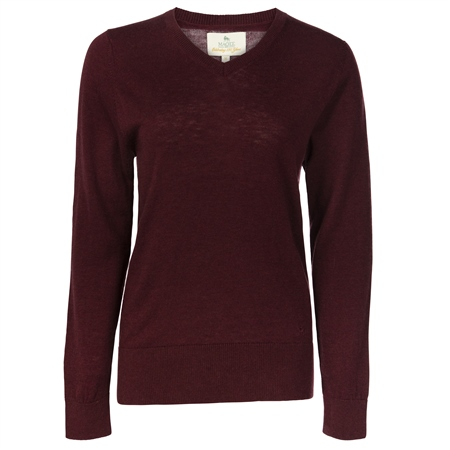 Burgundy Merino Wool Jumper  - Click to view a larger image
