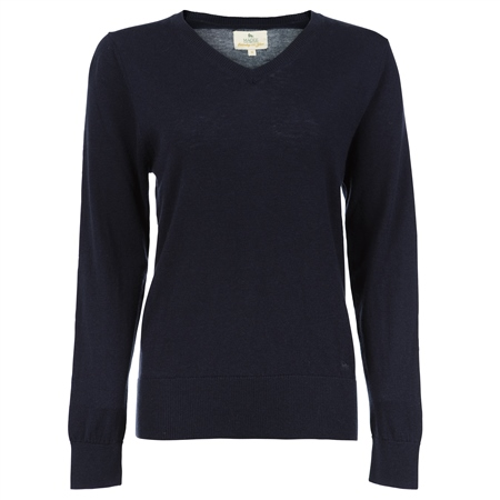 Navy Merino Wool Jumper  - Click to view a larger image