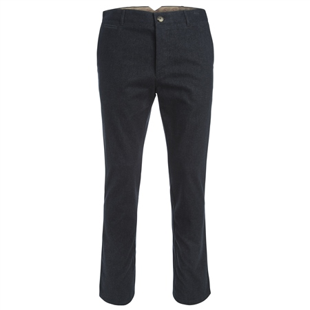 Dark Navy Straight Leg Cotton Trousers  - Click to view a larger image