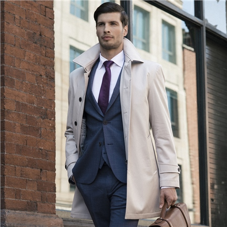 Dunuisce Cream Mac Overcoat  - Click to view a larger image