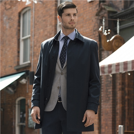 Dunuisce Navy Mac Overcoat  - Click to view a larger image