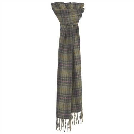 Luxury Multicoloured Plaid Scarf   - Click to view a larger image