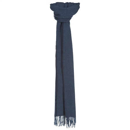 Luxury Navy Hopsack Widescarf   - Click to view a larger image