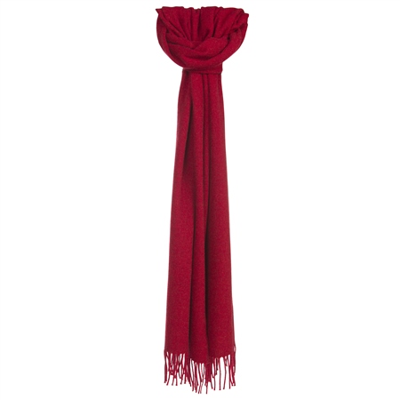 Luxury Red Hopsack Widescarf   - Click to view a larger image
