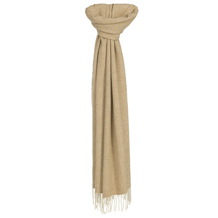 Luxury Hopsack Camel Widescarf   - Click to view a larger image