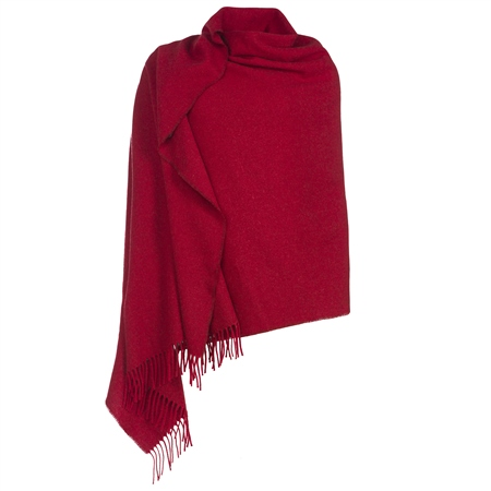 Luxury Red Hopsack Pashmina  - Click to view a larger image
