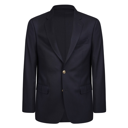 Navy Single Breasted Regular Fit Blazer  - Click to view a larger image