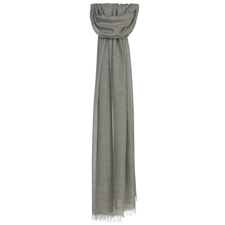Pale Grey Scarf  - Click to view a larger image