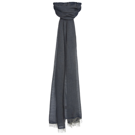 Denim Coloured Scarf  - Click to view a larger image