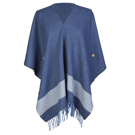 Blue Donegal Tweed Eske Cape  - Click to view a larger image