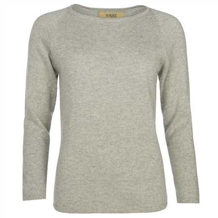Luna Grey Cashmere Luminary Jumper  - Click to view a larger image