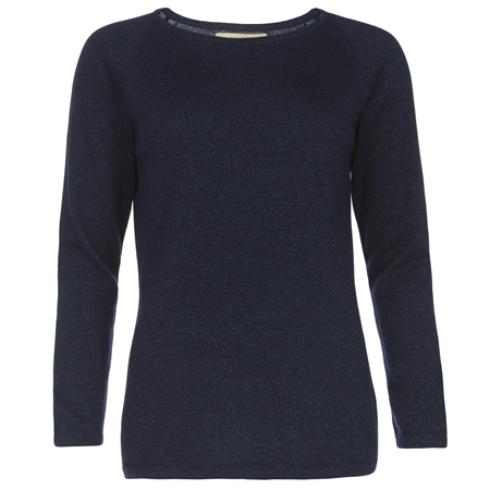 Navy Luna Cashmere Luminary Jumper  - Click to view a larger image