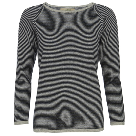 Magee 1866 - Luna Striped Cashmere Luminary Jumper