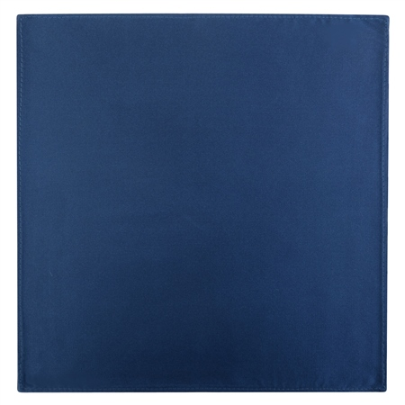 Navy Satin Silk Pocket Square  - Click to view a larger image