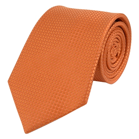Orange Micro Design Silk Tie  - Click to view a larger image