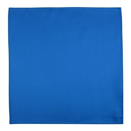 Azure Blue Silk Pocket Handkerchief  - Click to view a larger image