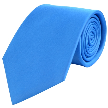 Azure Blue Classic Silk Tie  - Click to view a larger image