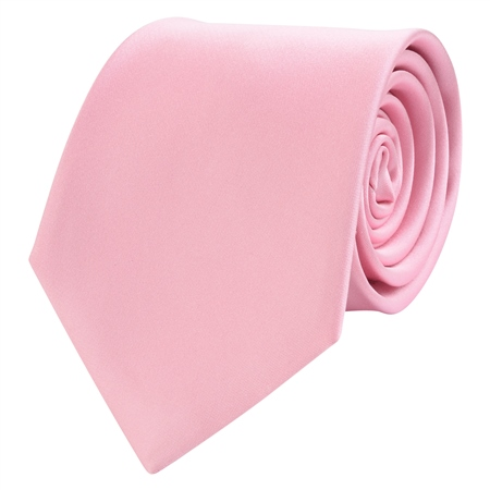 Pink Classic Plain Silk Tie  - Click to view a larger image