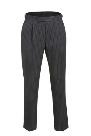 Grey Pinstripe Classic Fit Morning Trouser  - Click to view a larger image