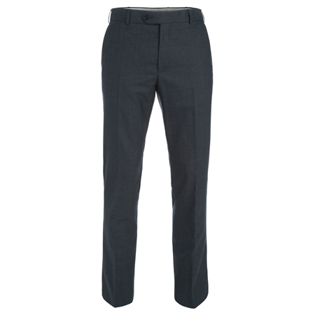 Grey Travel Mix & Match Check 3-Piece Suit Trousers  - Click to view a larger image
