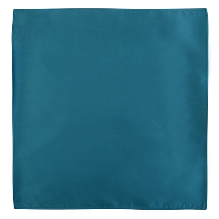 Teal Silk Pocket Handkerchief  - Click to view a larger image