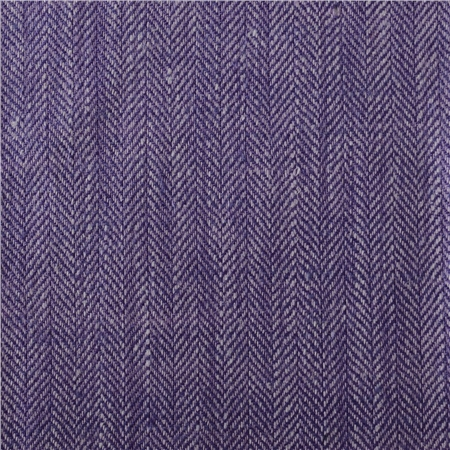 Luxury Lilac & Purple Herringbone Linen & Silk Mix Fabric  - Click to view a larger image