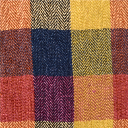 Patchwork Multi Coloured Linen  - Click to view a larger image