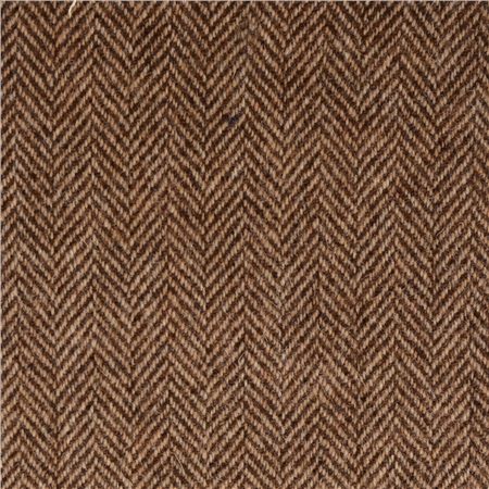 Camel & Brown Herringbone Donegal Tweed  - Click to view a larger image