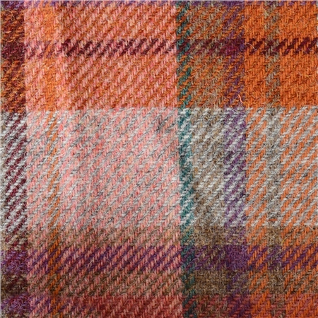 Multi Coloured Large Check Donegal Tweed  - Click to view a larger image