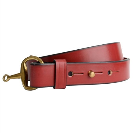 Ashton Luxury Red Leather Belt   - Click to view a larger image