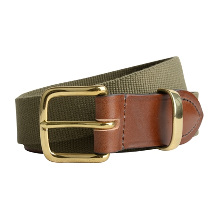 Men's Bredon Luxury Green Belt  - Click to view a larger image