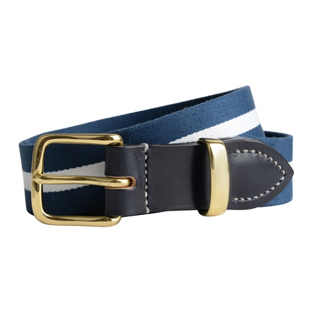 Bredon Luxury Navy & White Belt  - Click to view a larger image