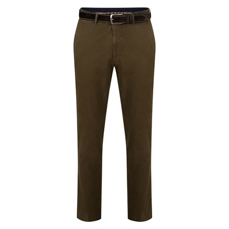 Brown Dungloe Washed Look Classic Fit Trouser  - Click to view a larger image