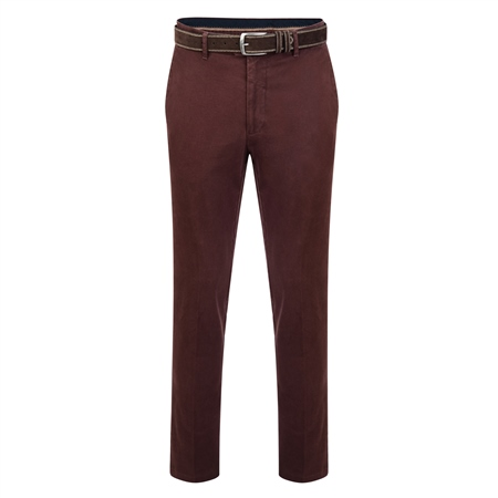 Maroon Dungloe Washed Look Classic Fit Trouser  - Click to view a larger image