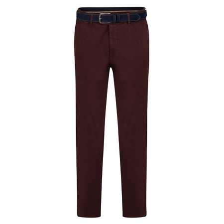 Maroon Braide Washed Look Slim Fit Trousers  - Click to view a larger image