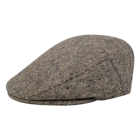 Oat Salt & Pepper Donegal Tweed Cap  - Click to view a larger image