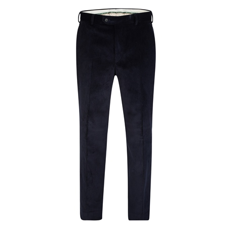 Navy Cotton Cord Trouser  - Click to view a larger image