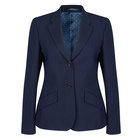 Navy Wool Blend Alicia Suit Jacket   - Click to view a larger image
