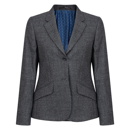 Grey Alicia Micro Check Jacket  - Click to view a larger image
