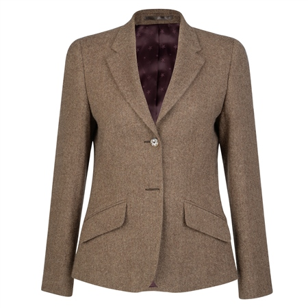 Magee 1866 - Camel Alicia Herringbone Donegal Tweed Jacket