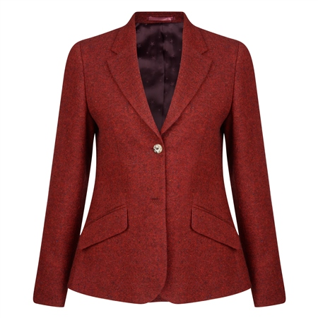 Red Alicia Salt & Pepper Donegal Tweed Jacket  - Click to view a larger image