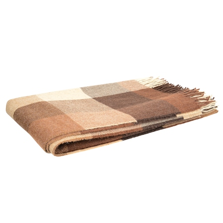 Brown, Oat & Camel Patchwork Throw  - Click to view a larger image
