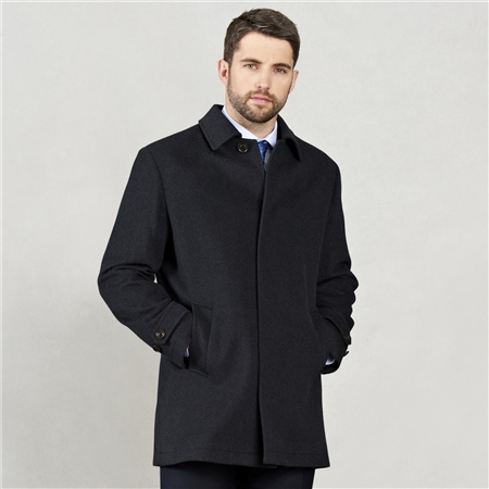 Navy Tullan Car Coat  - Click to view a larger image