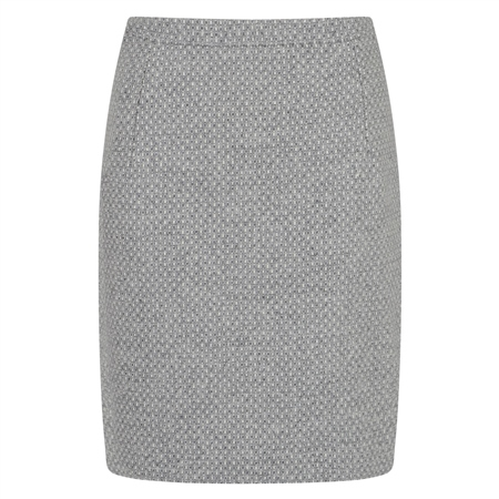 Grey Woven Carey Skirt  - Click to view a larger image