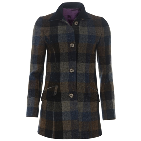 Magee 1866 - Blue, Grey, Navy & Brown Donegal Tweed Linsfort Coat