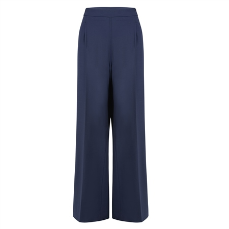 Willow Navy Wide Leg Trousers  - Click to view a larger image