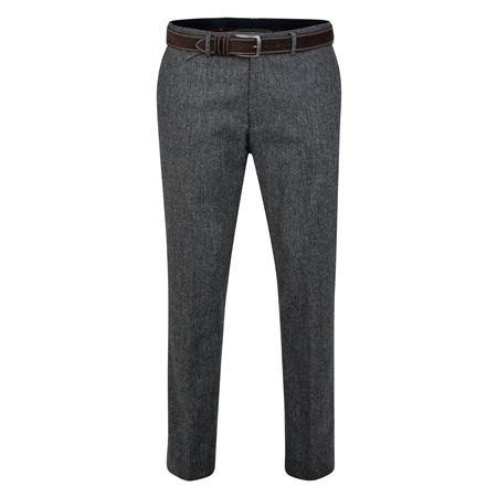 Rathlin Grey Salt & Pepper Tailored Fit Trouser  - Click to view a larger image