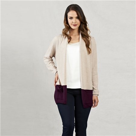 Oat & Purple Ava Cardigan  - Click to view a larger image